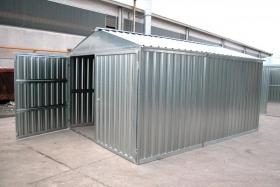 Box da cantiere in lamiera zincata 1001italia for Box in lamiera usati